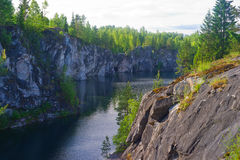 Marble Canyon in Russia. Marble Canyon Ruskeala in Karelia, Russia Royalty Free Stock Photography