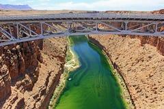 Marble Canyon under Navajo bridge Stock Photo