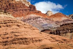 Marble Canyon in the desert southwest, Utah, USA. Stock Photos