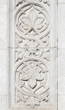 Marble carved ornament decoration detail Stock Photography