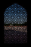 Marble carved screen window at Humayun's Tomb. Delhi, India Stock Image
