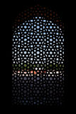 Marble carved screen window at Humayun's Tomb. Delhi, India Royalty Free Stock Image