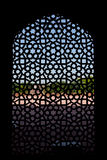 Marble carved screen window at Humayun's Tomb. Delhi, India Royalty Free Stock Photography