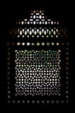 Marble carved screen window at Humayun's Tomb Stock Photo