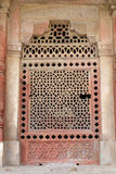 Marble carved window at Isa Khan Tomb Stock Images