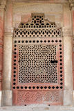 Marble carved window at Isa Khan Tomb. Humayuns Tomb complex, Delhi, India Stock Images