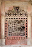 Marble carved window at Isa Khan Tomb. Humayuns Tomb complex, Delhi, India Royalty Free Stock Images