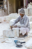 Marble carvers In Rajasthan Stock Photography