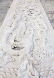 Marble carving. Of  Dragon in temple of heaven Stock Images