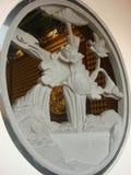 Marble carving window. At Dragon Temple Kammalawat Royalty Free Stock Image