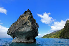 The marble cathedral chapel, Capillas De Marmol, Puerto Tranquilo, Chile. The marble cathedral chapel, Capillas De Marmol, along Carretera Austral, lake General royalty free stock images