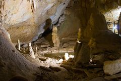 Marble cave in Crimea Royalty Free Stock Photo