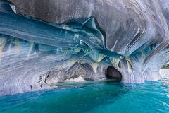 Marble Caves of lake General Carrera (Chile) royalty free stock photos