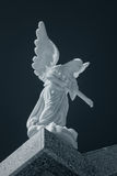 Marble cemetery angel Stock Images