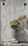 Marble Cemetery Vase Royalty Free Stock Image