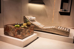Marble chaise longue at Host 2013 in Milan, Italy Royalty Free Stock Images