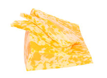 Marble Cheese. Isolated object. White background Royalty Free Stock Photos