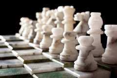 Marble chess formation Stock Photos