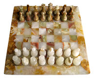 Marble Chess Set Stock Photos