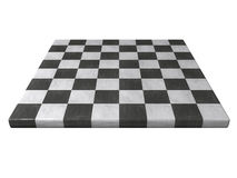Marble chessboard. A perspective view of a marble chessboard. Isolated on white background Royalty Free Stock Photo