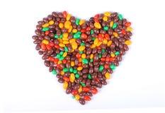 Marble chocolate heart Stock Photos