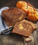 Marble chocolate pumpkin cake Stock Photos