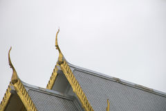 Marble church/temple Wat Sothorn, landmark in Chachoengsao with sky background. Royalty Free Stock Photography
