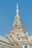 Marble church/temple Wat Sothorn, landmark in Chachoengsao Stock Images