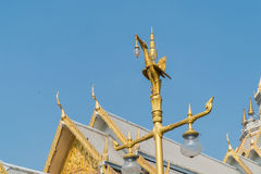 Marble church/temple Wat Sothorn, landmark in Chachoengsao Royalty Free Stock Photography