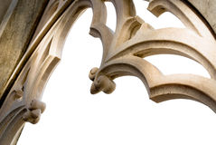 Marble church window. Marble window detail of the gothic cathedral in milan italy stock images