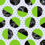 Marble circles seamless pattern Royalty Free Stock Photo