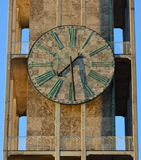 Marble clock, city hall tower, Aarhus Denmark Stock Image