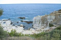 Marble coast Royalty Free Stock Image