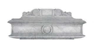 Marble coffin royalty free stock images