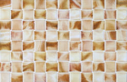 Marble collage brown tiles mosaic Stock Image