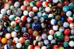 Marble Collection. A large collection of colorful marbles Royalty Free Stock Images