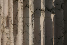 Marble column. Close up structure of a Roman marble column Royalty Free Stock Photography