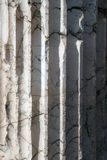 Marble column #2. Close up structure of a Roman marble column Stock Photography