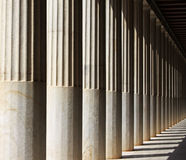 Marble column in ancient temple in Athens, Greece Stock Images