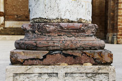 Marble column base, from salemi, sicily Stock Images