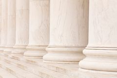 Marble columns. In a row and steps, ideal for classic background Royalty Free Stock Image