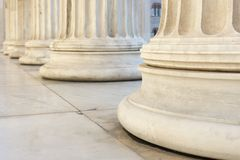 Row of columns. Marble columns of academy of athens Stock Photography