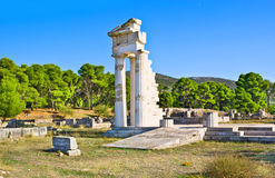 The marble columns Stock Photos