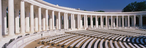 Marble columns at Arlington National Cemetery Royalty Free Stock Images