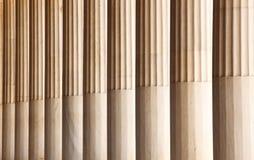 Marble columns in Atalo Stoa. Athens. Greece Royalty Free Stock Photo