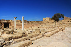 Marble Columns in Caesarea Maritima National Park Royalty Free Stock Images