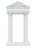 Marble columns isolated on white background Royalty Free Stock Photos