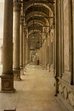 Marble columns of Mohamed Ali mosque stock photography