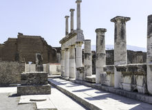 Marble Columns at Pompeii Italy Royalty Free Stock Photos