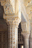 Marble columns in red Agra Fort Stock Photography
